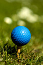 Blue golf ball 3 Stock Images