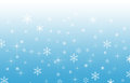 Blue gradient background with snowflakes a Royalty Free Stock Image
