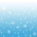 Blue gradient background with snowflakes a Stock Photo