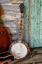 Blue Grass Band Instruments Royalty Free Stock Photo