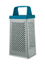 Blue grater on a white background Stock Photo