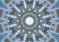 Blue gray kaleidoscope pattern abstract background. Circle pattern. Abstract fractal kaleidoscope background. Abstract fractal pat Royalty Free Stock Photo