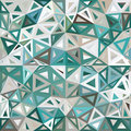 Blue and gray mottled abstract triangles vector background Royalty Free Stock Photo