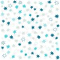 Blue gray navy messy little stars many beautiful holiday seamless pattern on white background Royalty Free Stock Photography