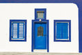 Blue Greek door Royalty Free Stock Images