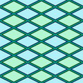 Blue and green abstract pattern with rhombus