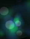 Blue green blur bokeh background