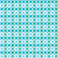 Blue green color star square seamless pattern Royalty Free Stock Photo