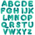Blue Green Colorful Typography Design