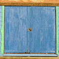 Blue and green doors Royalty Free Stock Images