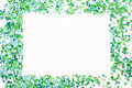 Blue and green frame on white background Royalty Free Stock Photo