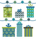 Blue Green Gifts Royalty Free Stock Photo