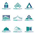 Blue green Home modern and boutique logo vector set design