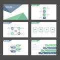 Blue green Multipurpose Infographic elements icon presentation template flat design set for advertising marketing brochure flyer Royalty Free Stock Photo