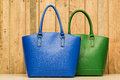 Blue and green purse Royalty Free Stock Photo