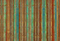 Blue green and red bamboo stripes Stock Photography