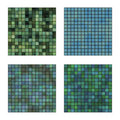 Blue and green seamless mosaic textures Royalty Free Stock Photography