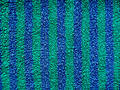 Blue and green striped terry cloth Stock Image