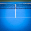 Blue and green tennis court Royalty Free Stock Photo