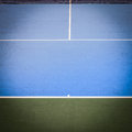 Blue and green tennis court surface Royalty Free Stock Photo