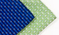 Blue and green ties Royalty Free Stock Images