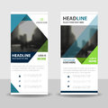 Blue green triangle roll up business brochure flyer banner design , cover presentation abstract geometric background Royalty Free Stock Photo
