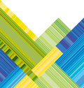 Blue and green vector header with colorful stripe. Royalty Free Stock Photo