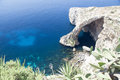 Blue grotto gozo island malta sightseeing of the a natural rock feature on the of Stock Photos