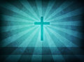 Blue grunge Cross Stock Photo