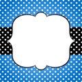 Blue Grunge Polka Dots Frame G...