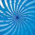 Blue grunge starburst swirl Royalty Free Stock Photography