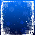 Blue Grunge Winter Background Stock Images