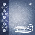 Blue grunge winter background with sledge. EPS10 Royalty Free Stock Photo