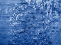 Blue Grungy Wall Background Stock Photo
