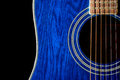 Blue Guitar Royalty Free Stock Photo