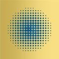 Blue Halftone circles background, halftone dot pattern.