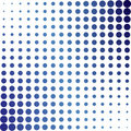 Blue Halftone Dots Stock Photography