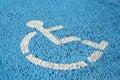 Blue handicap parking sign Royalty Free Stock Photo