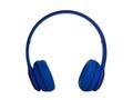 Blue Headphones. clipping path