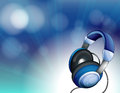 A blue headset illustration of Royalty Free Stock Photo