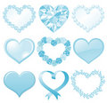 Blue heart Royalty Free Stock Images