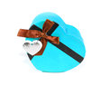 Blue Heart-shaped box Royalty Free Stock Photo