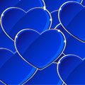 Blue hearts background to valentine s day Royalty Free Stock Image
