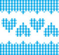 Blue Hearts Pattern Royalty Free Stock Images