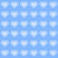 Blue hearts wallpaper Royalty Free Stock Photography