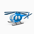 Blue helicopter illustration of on a white background Royalty Free Stock Images