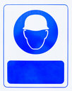 Blue helmet symbol Royalty Free Stock Photos