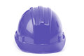 Blue helmet on a white background construction Stock Photography