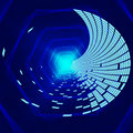 Blue hexagons background means matter waves and void meaning Royalty Free Stock Photos