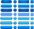 Blue high-detailed modern web buttons. Royalty Free Stock Photo